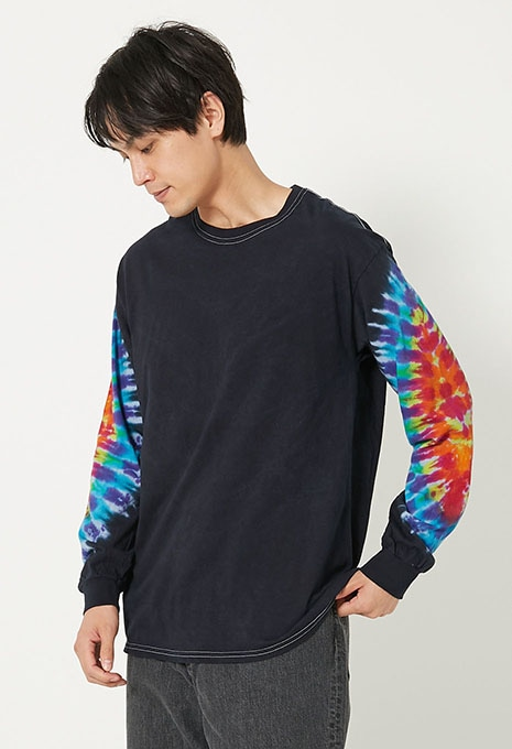 KERRS COTTON SLEEVES DYES ロングスリーブ Tシャツ