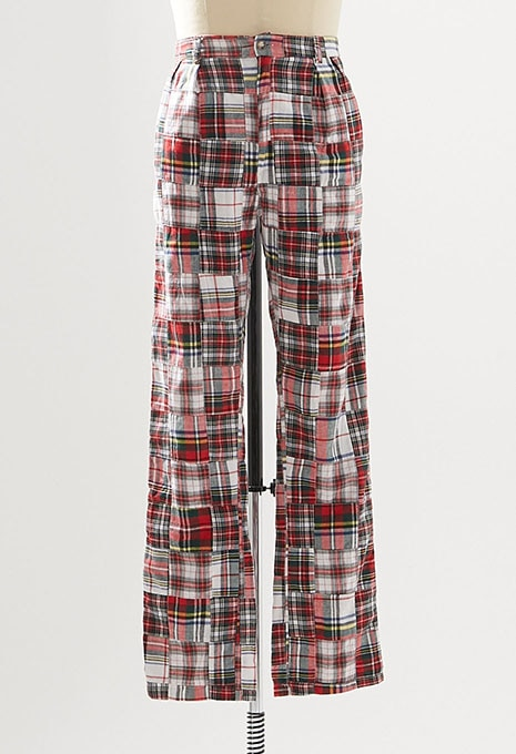 USED MADRAS PATCHWORK TROUSER MADE IN USA