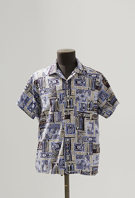 USED CALIFORNIA TIKI PATTERN SS SHIRTS