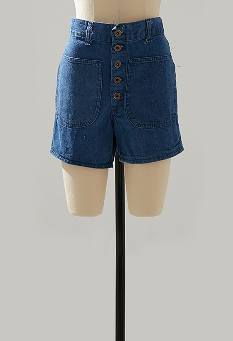 USED RAPPERS WOMENS DENIM SHORTS