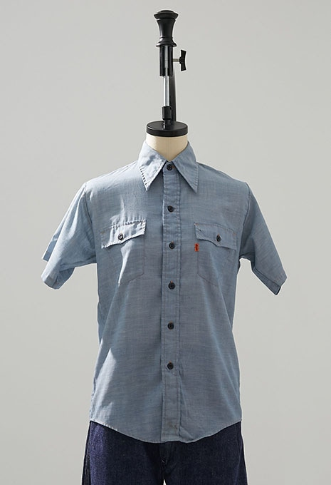 USED LEVIS BOYS CHAMBRAY SS SHIRTS