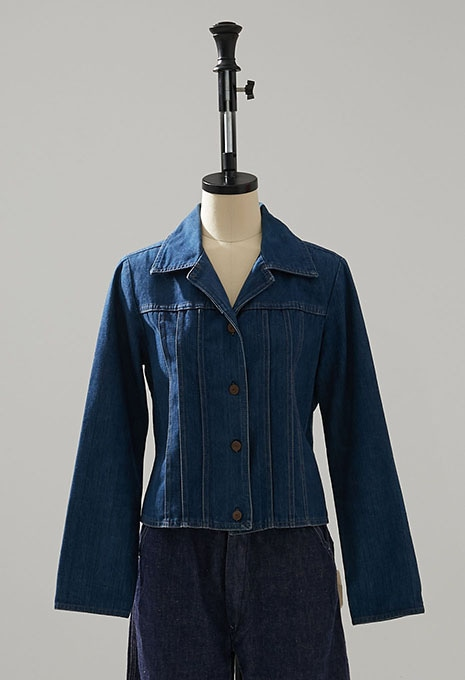 USED LEVIS ASTERISKS WOMENS DENIM JACKET