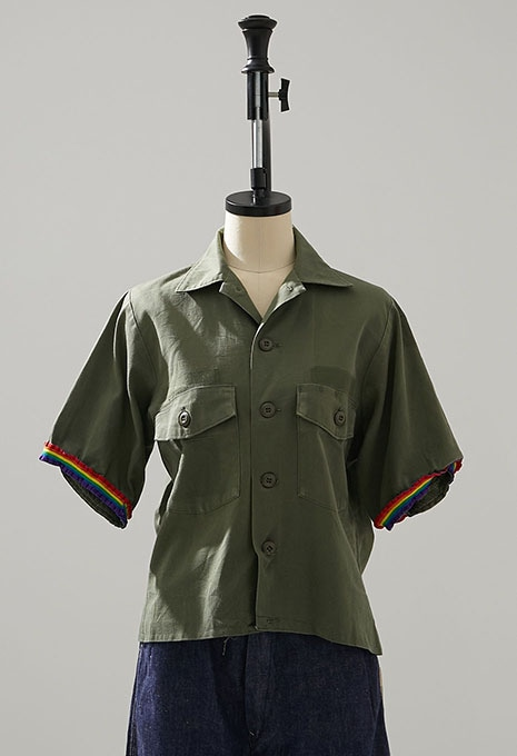 USED REMAKE US ARMY FATIGUE SHIRTS