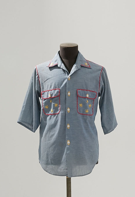 USED BIC MAC NON-IRON CHAMBRAY3/4SLEEVE SHIRTS