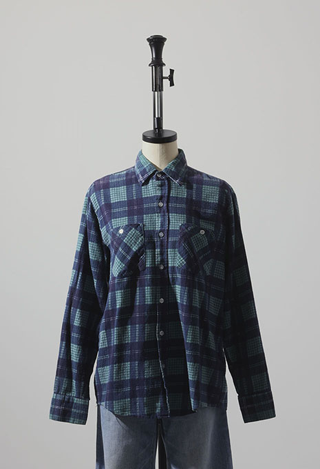 VINTAGE RUGGED PRINT FLANNELS SHIRT